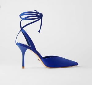 Royal blue tie shoe