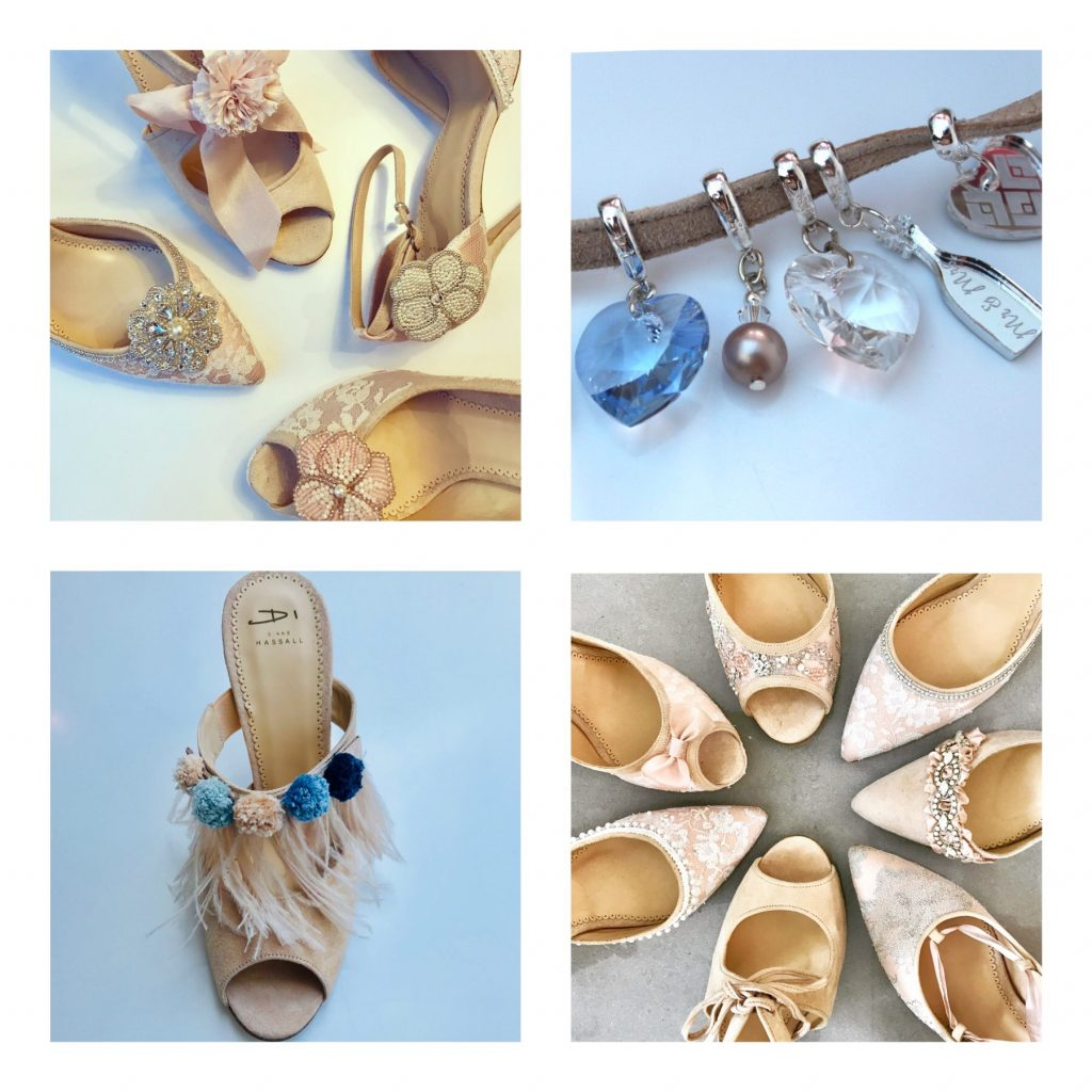 Wedding shoes accessories by Diane Hassall