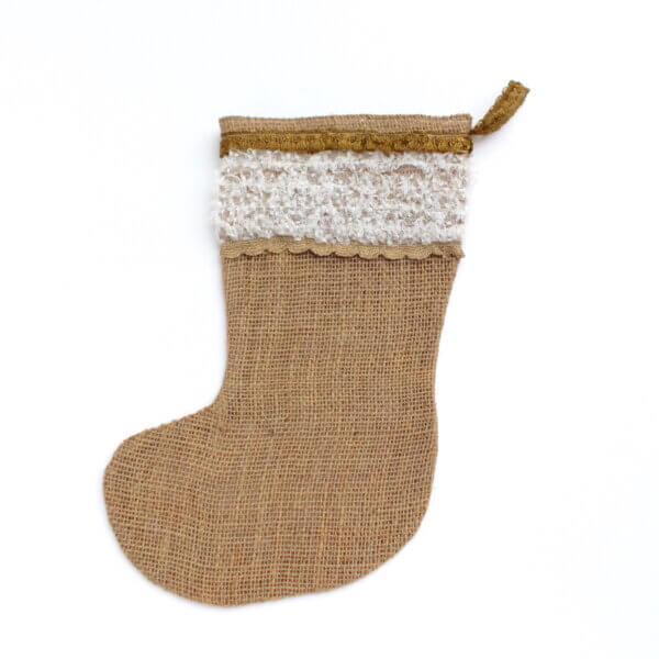 decorative Christmas stocking with hanging loop